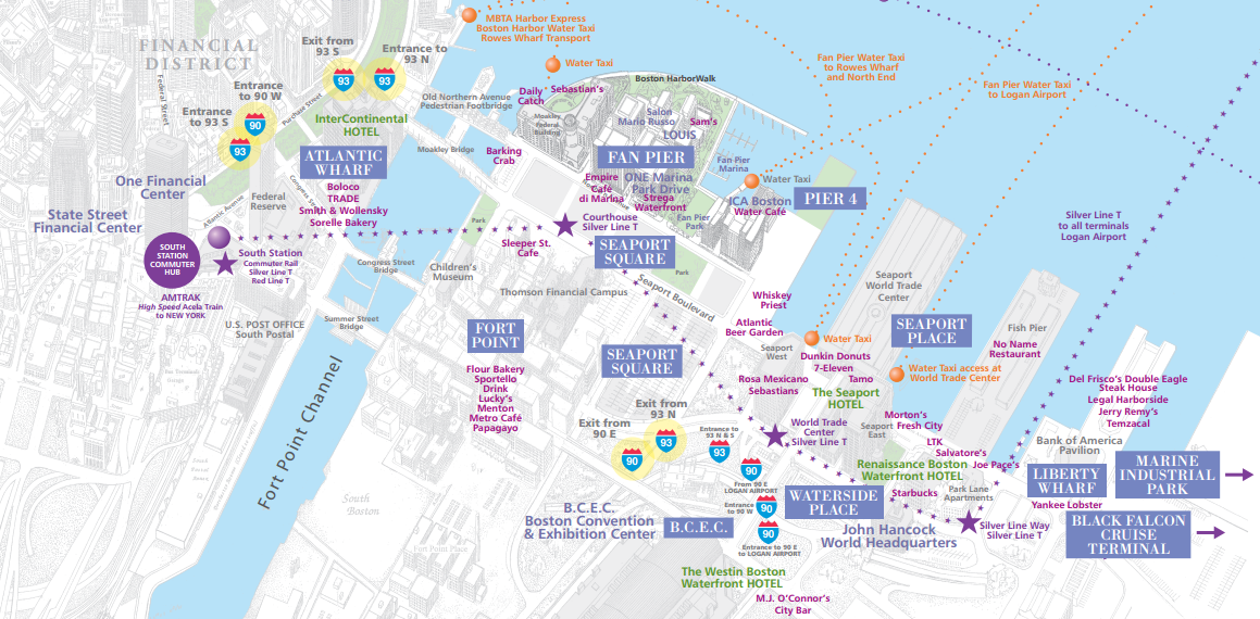 Boston Waterfront Map